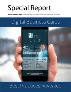 Digital Business Cards Special Report Visness Card Digital